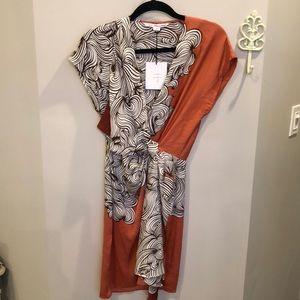 NWT DvF Foane Von Furstenberg Balisi Silk Dress
